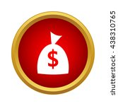money bag icon  simple style