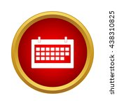 calendar icon  simple style