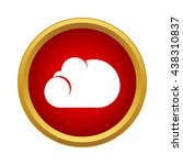 cloud icon  simple style