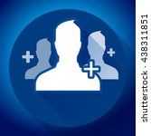 adding referrals. teamwork and... | Shutterstock .eps vector #438311851