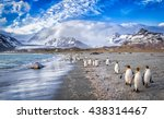 katabatic winds encroach on st. ...   Shutterstock . vector #438314467