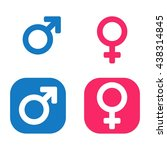 vector male   female icon set.... | Shutterstock .eps vector #438314845