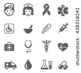 medical icons | Shutterstock .eps vector #438318241