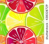 seamless pattern of orange ... | Shutterstock .eps vector #438328729