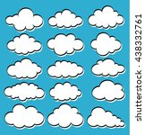 vector illustration of clouds... | Shutterstock .eps vector #438332761