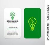 green light vector realistic... | Shutterstock .eps vector #438335329
