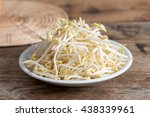 Bean Sprouts On Wooden...