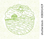farm. vector illustration. | Shutterstock .eps vector #438341419