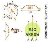 archery club logo set. sport... | Shutterstock . vector #438344524