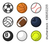 sport balls cartoon style set... | Shutterstock .eps vector #438352255