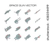 space gun vector. space weapons ... | Shutterstock .eps vector #438354499