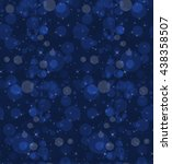 bokeh clouds and stars dark... | Shutterstock .eps vector #438358507
