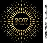 happy new year 2017 with... | Shutterstock .eps vector #438358885