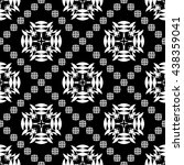 abstract black and white... | Shutterstock .eps vector #438359041