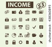 income icons | Shutterstock .eps vector #438360895