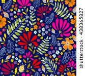 floral seamless pattern. herbal ... | Shutterstock . vector #438365827