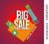 big sale discount vector design ... | Shutterstock .eps vector #438369205