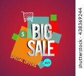 big sale discount vector design ... | Shutterstock .eps vector #438369244