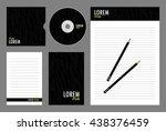 vector corporate identity ... | Shutterstock .eps vector #438376459