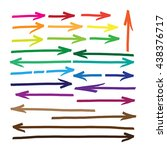 arrows. marker drawing series... | Shutterstock .eps vector #438376717