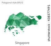 singapore map in geometric... | Shutterstock .eps vector #438377491