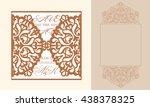 lazercut vector wedding... | Shutterstock .eps vector #438378325