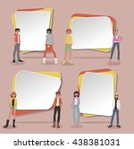 vector banners   backgrounds... | Shutterstock .eps vector #438381031