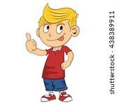 boy give a thumb up cartoon  | Shutterstock . vector #438389911