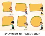 vector banners   backgrounds... | Shutterstock .eps vector #438391834