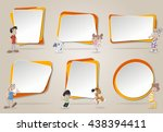 vector banners   backgrounds... | Shutterstock .eps vector #438394411