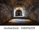 old abandoned tunnel in the... | Shutterstock . vector #438396235