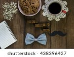 fathers day concept  blank note ... | Shutterstock . vector #438396427