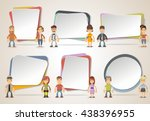 vector banners   backgrounds... | Shutterstock .eps vector #438396955
