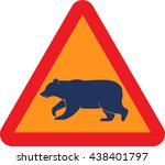 road sign warning about the... | Shutterstock .eps vector #438401797