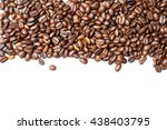 coffee beans. isolated on white ... | Shutterstock . vector #438403795