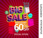 big sale discount 60  off... | Shutterstock .eps vector #438405691