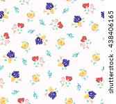 seamless floral background.... | Shutterstock . vector #438406165