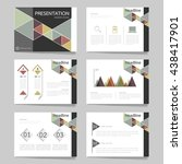 template vector triangle pastel ...   Shutterstock .eps vector #438417901