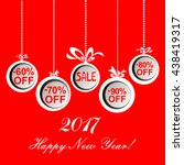 2017 happy new year. christmas... | Shutterstock .eps vector #438419317
