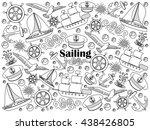 sailing design colorless set... | Shutterstock . vector #438426805