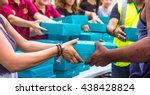 charity and giving is an...   Shutterstock . vector #438428824