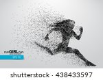 silhouette of a running woman... | Shutterstock .eps vector #438433597