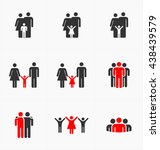 people icon set team family... | Shutterstock .eps vector #438439579