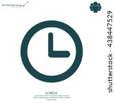 clock icon   vector...   Shutterstock .eps vector #438447529