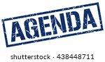 agenda stamp.stamp.sign.agenda. | Shutterstock .eps vector #438448711