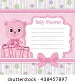 teddy bear for baby girl . baby ... | Shutterstock .eps vector #438457897