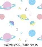 vector space pattern. cosmic... | Shutterstock .eps vector #438472555