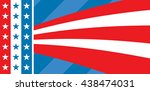 american flag design with... | Shutterstock . vector #438474031