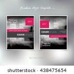 vector brochure or booklet... | Shutterstock .eps vector #438475654