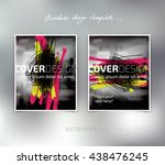 vector brochure or booklet... | Shutterstock .eps vector #438476245